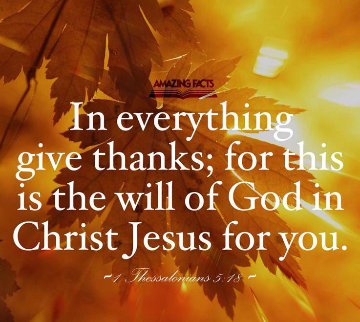 1 Thessalonians 5:18 Thankful Sunday — Tell the Lord Thank You